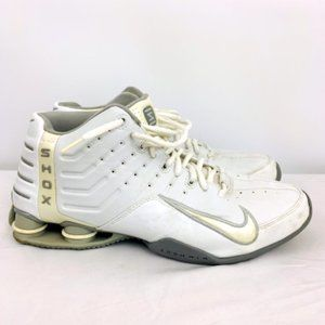 Nike Zoom Air Shox Basketball Shoes in White 308575-101 from 2004 SZ 12